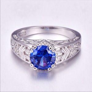 ⭐️COMING SOON Sz 9 925 Stamped SS Tanzanite Ring